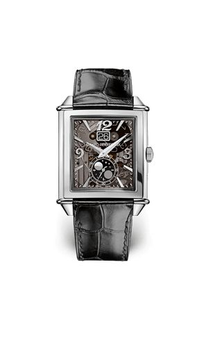 The sober lines of the Vintage 1945 evoke the aesthetic heritage of the early 20th century that Girard-Perregaux has so consistently espoused. In a vibrant tribute to Art Deco, the straight lines melt into curves and back again in perfect balance. The rectangular case places the Art Deco notion of geometry at the heart of its design.