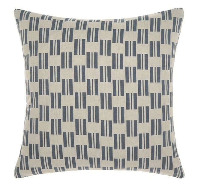 Manon 43x43cm Filled Cushion Indigo | Manchester Warehouse