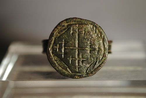 1210 A.D Medieval Bronze Knight #Templars Ring Bearing #Jerusalem Cross