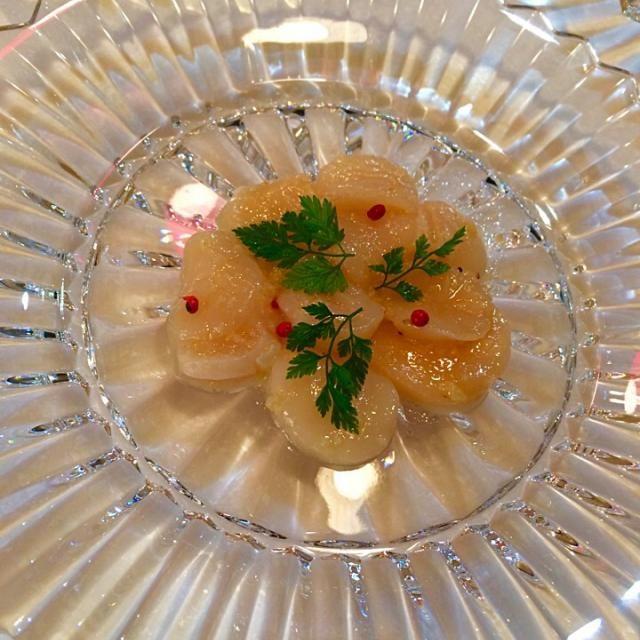 記念日の前菜! ホタテに玉ねぎのすったのものを使いマリネにしてみました。 - 26件のもぐもぐ - ホタテのマリネ by yumenimishi101