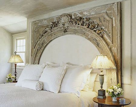An alternative to the traditional headboard, silhouette created by highlighting the negative space.