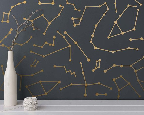 Constellation Wall Decals  Star Decals Modern от KennaSatoDesigns