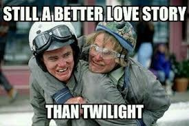 Lloyd and Harry-Dumb and Dumber. Friends who really understand each other.