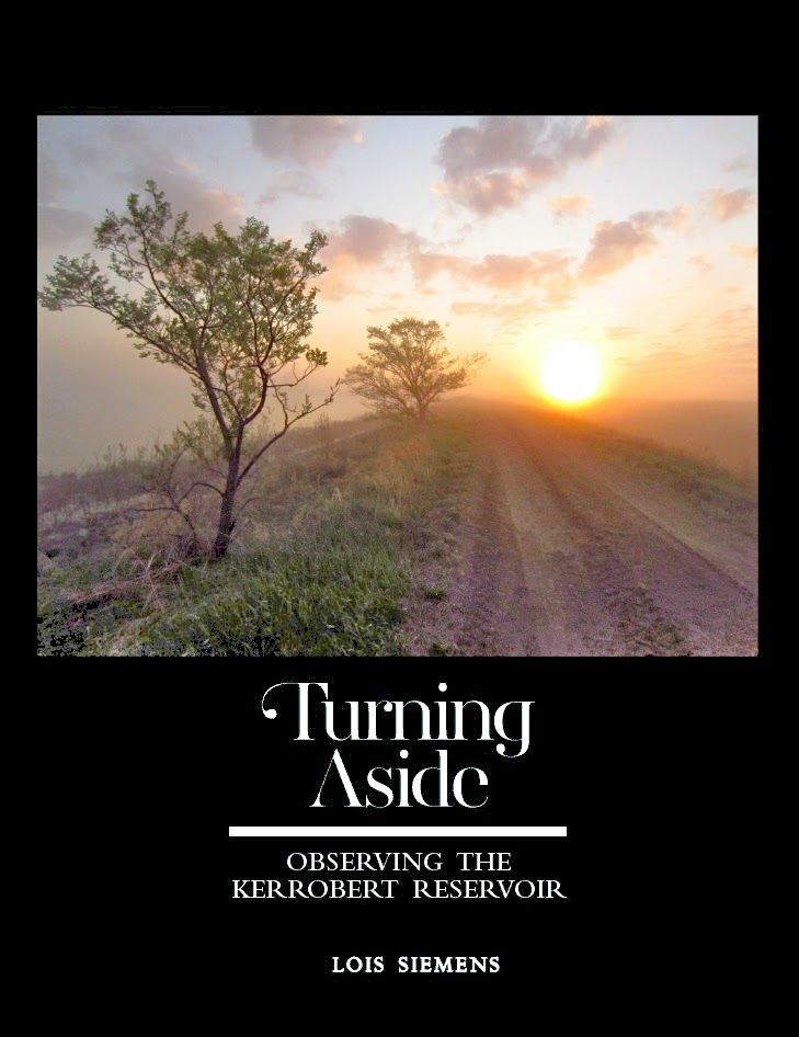 If you are looking forward to exploring Saskatchewan this summer, consider visiting the Kerrobert Reservoir. You'll definitely want to go after taking a look at Lois Siemens book, Turning Aside: Observing the Kerrobert Reservoir.