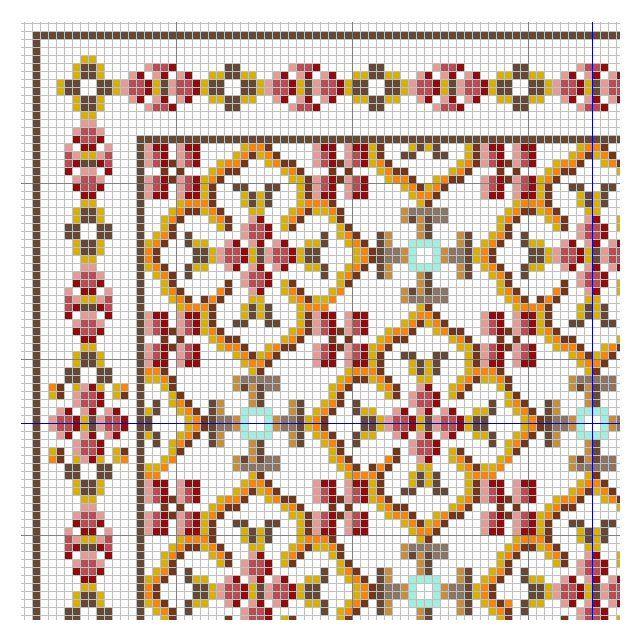 geometric rose rug chart (link to full chart)