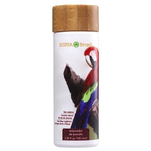 Surya Brasil Natuurlijke Nagellak Remover - zonder aceton - 100% vegan - met vitamine e. Surya Brasil Nagellak Remover is 100% veganistisch en gemaakt met natuurlijke ingrediënten. Gemaakt van milieuvriendelijke ingrediënten met inbegrip van plantaardige glycerine en biologische groente. Verrijkt met biologische Arganolie, Buriti olie, Pataua olie en vitamine E voor gezonde & sterke nagels!