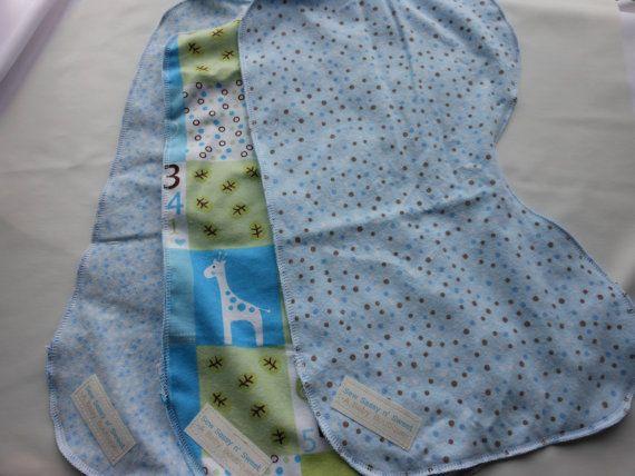 Baby boy blue burp cloths gift set