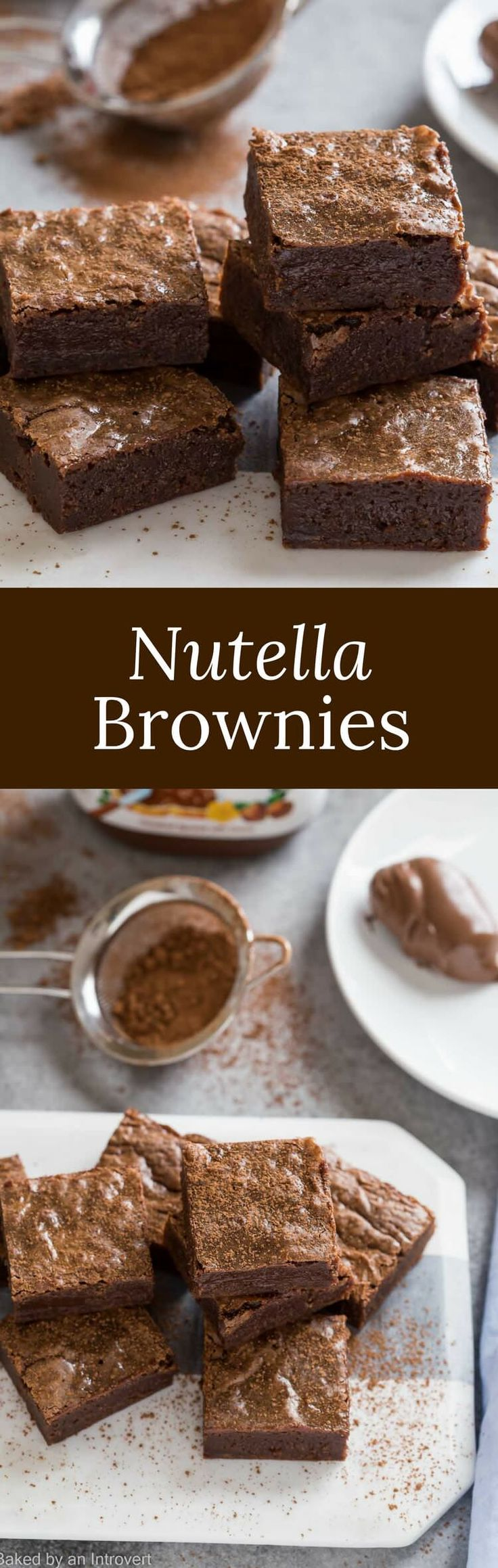 If you love to indulge in the thick chocolate hazelnut spread known as Nutella, you will go absolutely nuts for these Nutella Brownies. via @introvertbaker