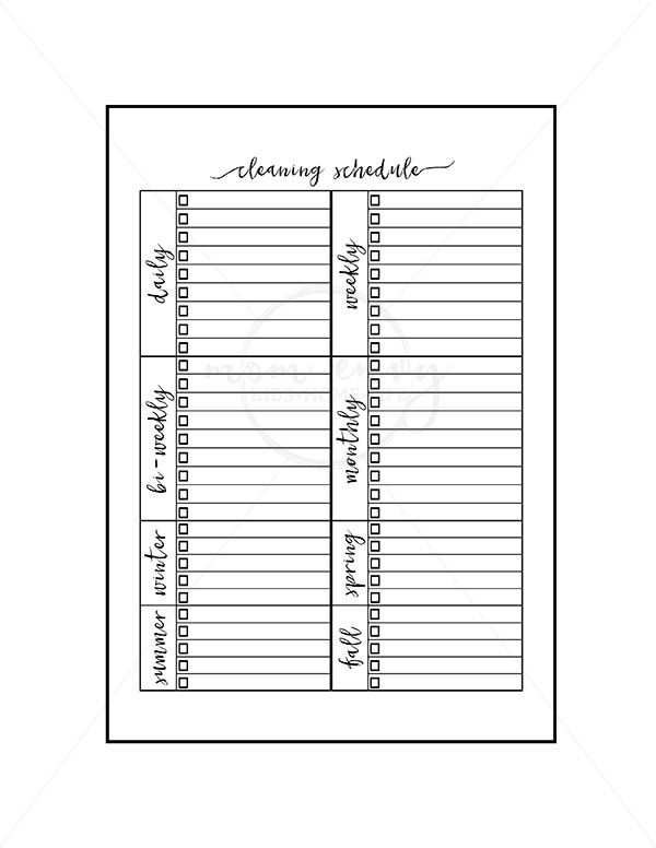 Free Cleaning Planner Inserts and Family Binder Inserts | Mom Envy