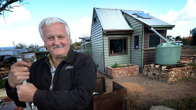 David Bell faces building and planning laws battle with Buloke Shire Council over his tiny house * The council argues the property should be connected to electricity, water and sewerage, and must include a kitchen sink, food prep. facilities, a bath/shower, and a toilet and washbasin. Mr Bell said he was poor and couldn't afford to meet all the requirements. He didn't think he needed to, because his dwelling was under 10sq.m.; but council argues this applies only if the building is…