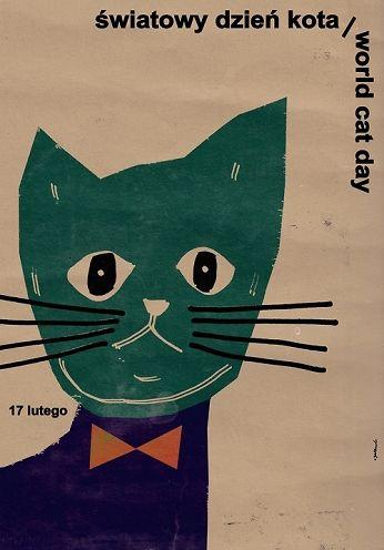 Światowy dzień kota, plakat