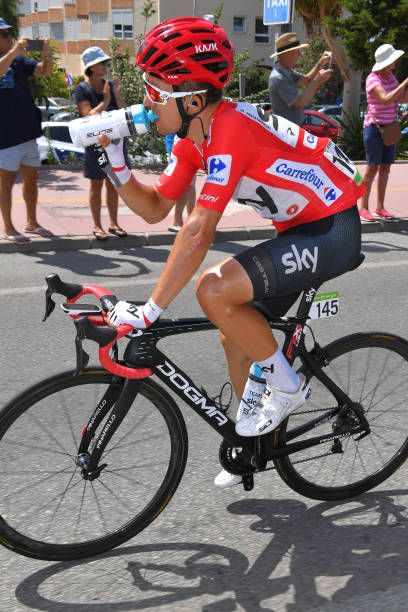c59d6c977 Michal Kwiatkowski of Poland and Team Sky Red Leader Jersey   SIS Bottle    during the
