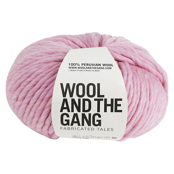 Buy Wool and the Gang Crazy Sexy Super Chunky Yarn, 200g, Pink Lemonade Online at johnlewis.com The Crazy Sexy Wool from Wool and the Gang is soft, chunky and super-easy to knit with. Made from 100% Peruvian wool its perfect for those who want a new knitting experience. Perfect for winter woolies and accessories.affilliate link