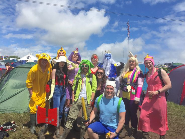 We all dressed as characters from Adventure Time for a day at Glastonbury 2016!