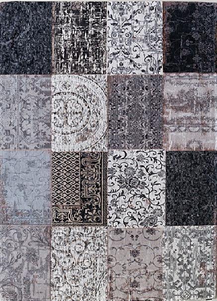 Vintage Kelim Tapijt Black and White 8101    Vloerkledenwinkel.nl