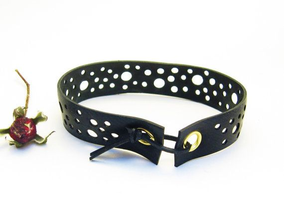 Upcycled Rubber Inner Tube Bracelet / Recycled Jewellery / Upcycled Jewelry / Eco Friendly Jewelry