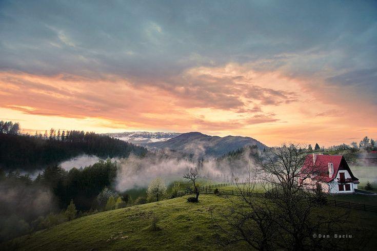 Sunset in Transylvanya Romania - landscape photography - nikon