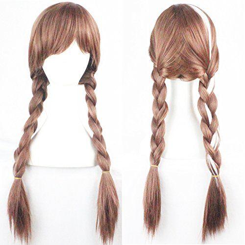 Brown Weave Ponytail Wig CosplayCostumeAnimePartyBangs Full Sexy Wig Elsa2 -- undefined #HairWigs