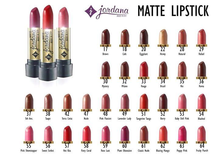 Jordana matte lipstick shades - Buscar con Google