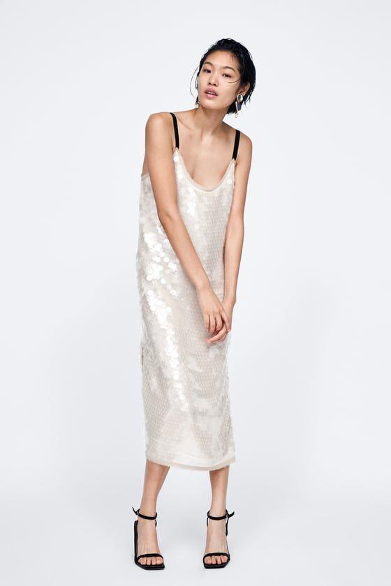 f150c401 It's Time To Start Shopping Zara's Winter Sale in 2019 | xx | Dresses,  Sequin dress, Silver dress