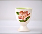 Vintage China Cup - Shabby chic - spring pink Victorian flower egg cup