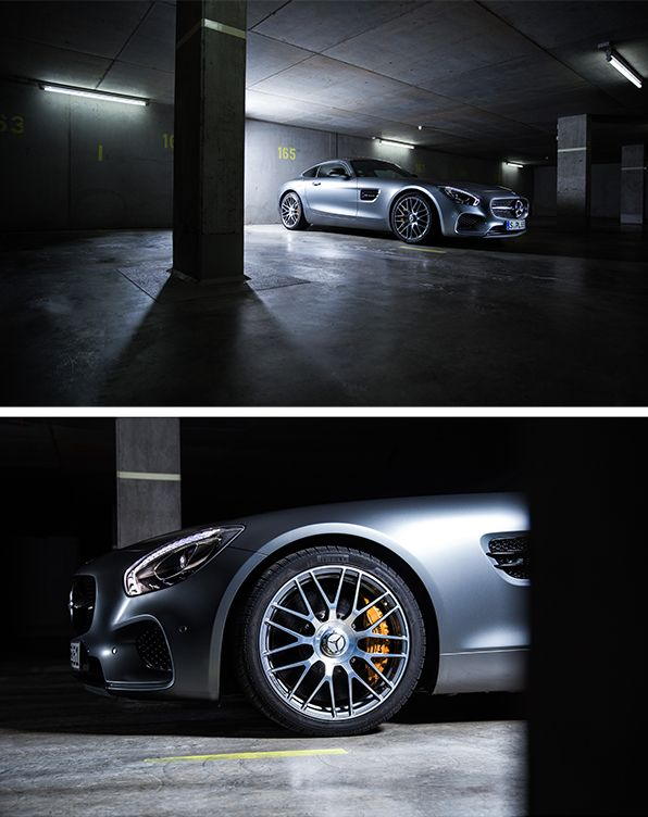 Breathtaking proportions, powerfully sculpted surfaces and flowing lines turn the new AMG into a contemporary sports car which embodies the spirit of the glorious Mercedes sports cars. The Mercedes-AMG GT S photographed by Johannes Gloeggler. #mbsocialcar [Mercedes-AMG GT S   combined fuel consumption 9.6-9.4 l/100km   combined CO2 emission 224-219 g/km    http://mb4.me/efficiency_statement]