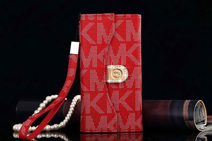 Michael Kors Note 5 Tri fold Flip Wallet Case Red