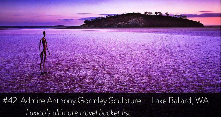 Admire Anthony Gormley Sculpture, Lake Ballard, WA - Luxico's ultimate travel bucket list #42