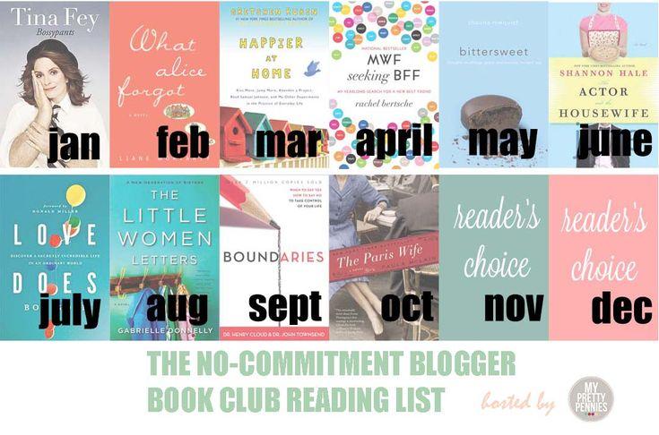 books in 2013 : No commitment Blogger Book Club!