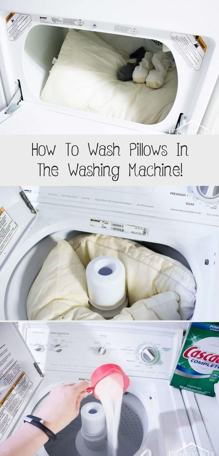 How To Wash Pillows In The Washing Machine in 2020 Wash