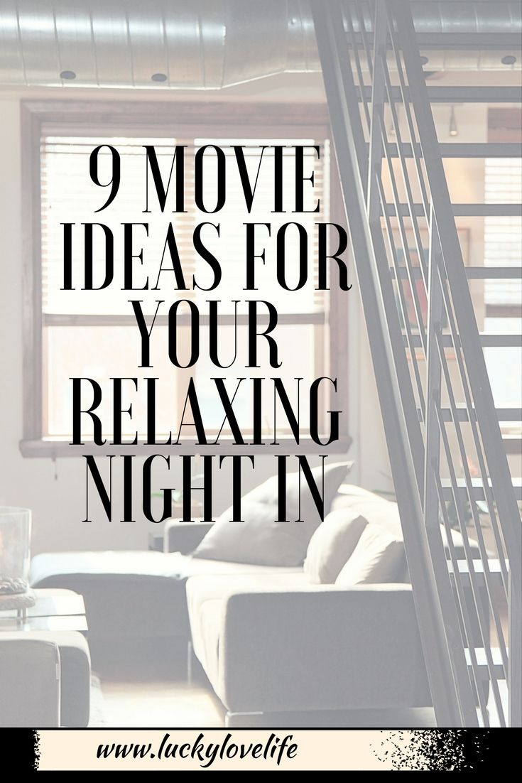 9 movie ideas for your night in. Date night or staycation movie ideas.  Family
