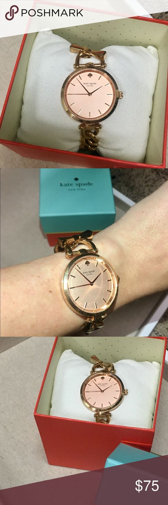 Kate Spade Rose Gold watch! Kate Spade Rose Gold watch! Only worn a few times, in great condition with box! kate spade Accessories Watches