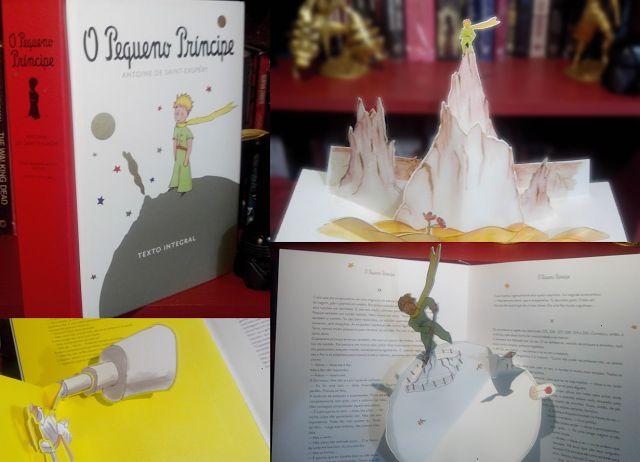 Luar de Livros: Meus Mimos Literários - O Pequeno Príncipe, versão Pop-up, Antoine de Saint- Exupéry , editora Agir.