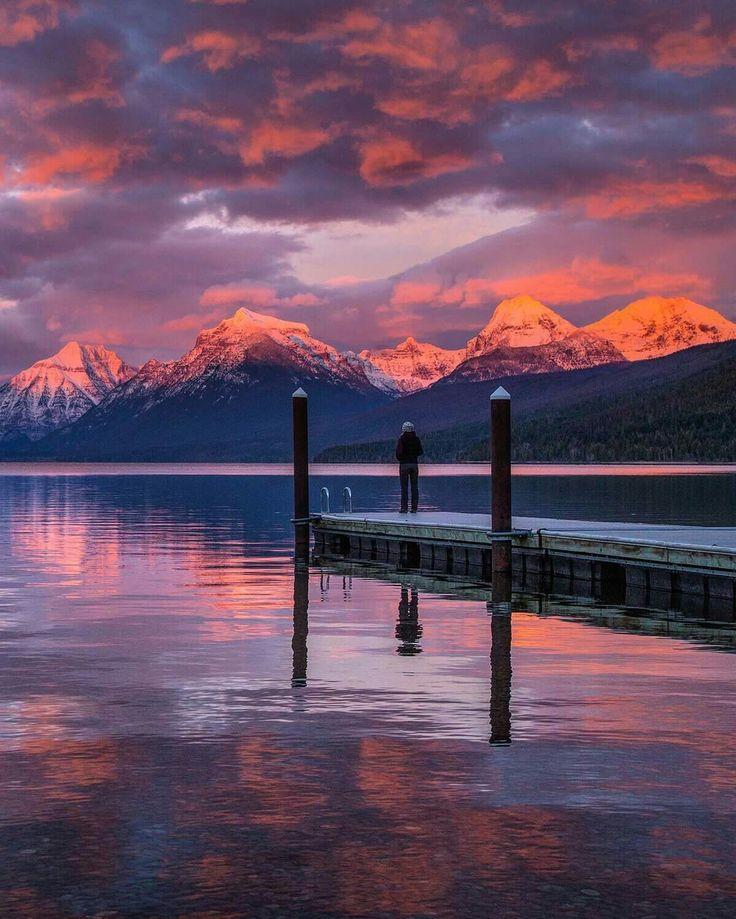 Lake McDonald sunrise Glacier NP
