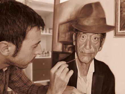 ...painting a portrait