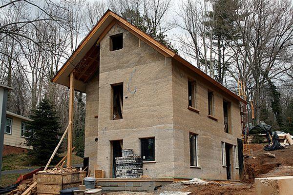 Hemp home under construction