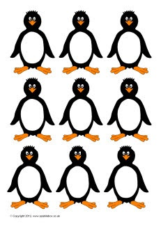 Penguin blanks for counting, etc. sounds like a file folder game waiting to happen