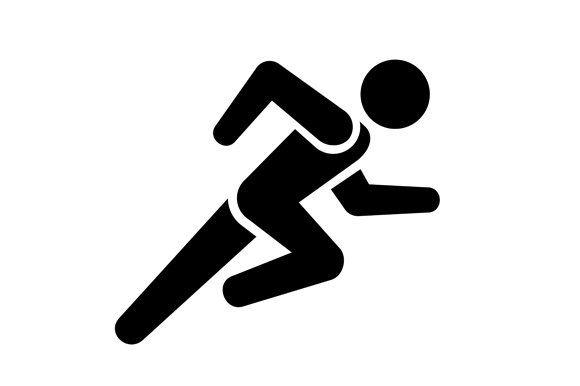 Running Man Icon Running Man Man Icon Pictogram