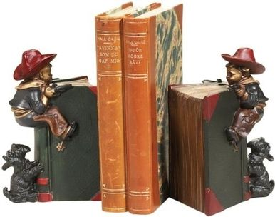 Bookends Bookend AMERICAN WEST Southwestern Cowboy and Scottie Resin New OK-557