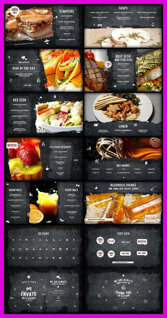 Menu Design Restaurant Vegetarian Envato Restaurant After Effects Template Download Food Menu Design Fast Food Menu Restaurant Menu Design