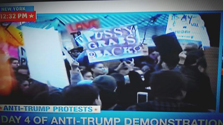 Anti-Trump Demonstrations.