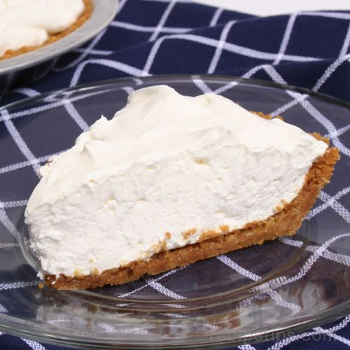No Bake Cheesecake: 8 oz. cream cheese, 1/2 cup sugar, 1 cup sour cream, 2 tsp. vanilla extract, 8 oz. Cool Whip, 1 9 oz graham cracker crust......... Beat cream cheese and sugar together until smooth. Add sour cream and vanilla. Gently beat in Cool Whip. Pour into crust- invert top plastic cover of crust- chill 3-4 hours OR freeze 15 -30 minutes, depending on your freezer.