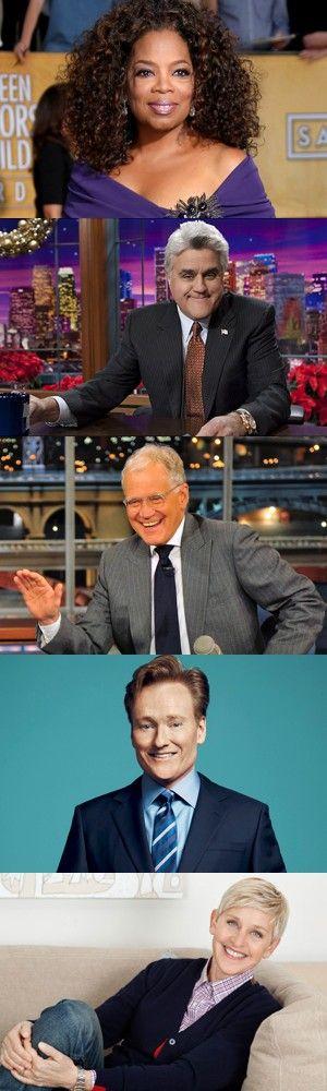 Cinque famosi talk show americani