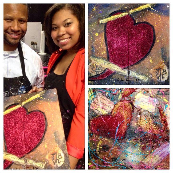 Valentine paintings!  Great job!