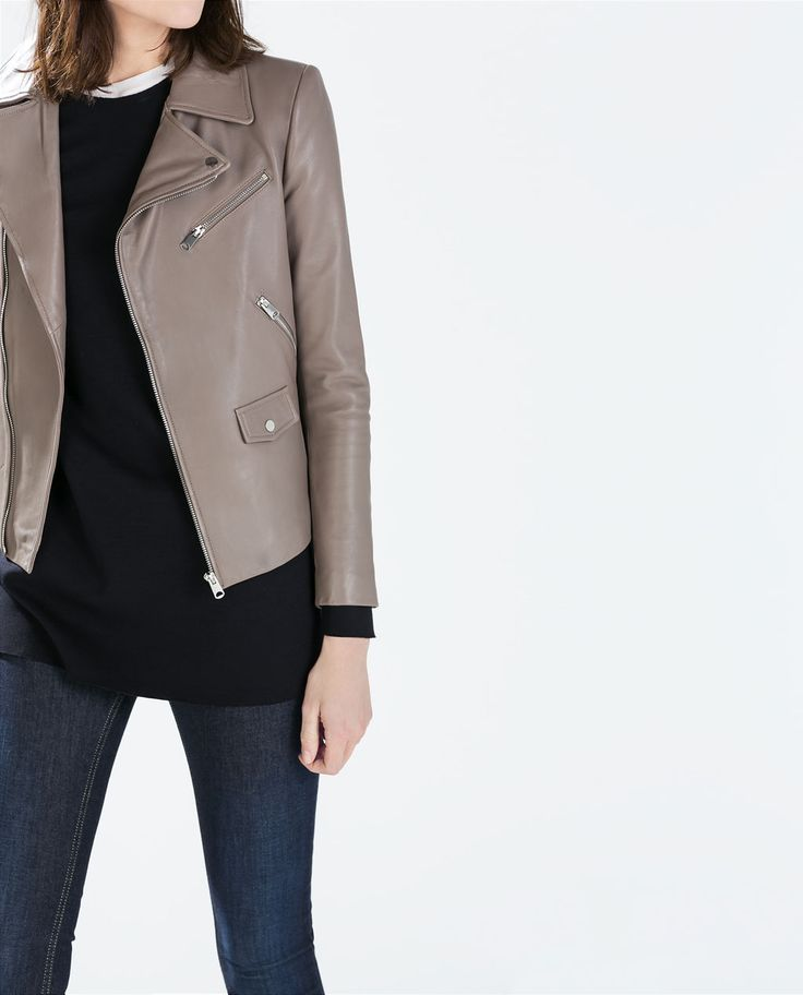 Image 3 of LEATHER BIKER JACKET from Zara $299- $199 on sale