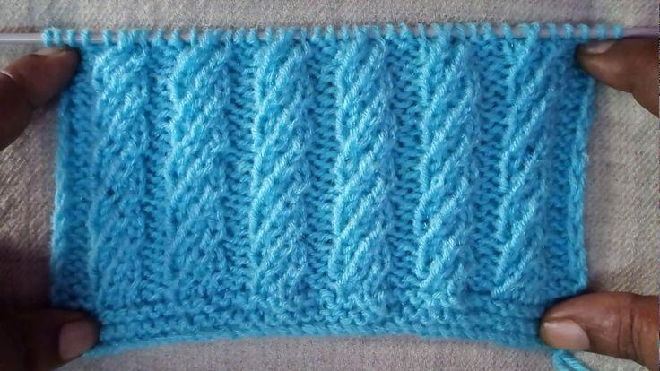 Easy Single Color Knitting Pattern No.64|Hindi