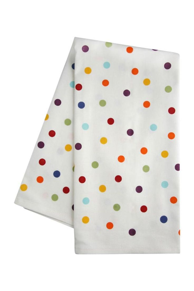 Our polka dot pattern is spot on! This 100% cotton dishtowel matches nothing but goes with everything - the perfect addition to your eclectic kitchen.   Multi Dot Dishtowel by Fishs Eddy. Home & Gifts - Home Decor - Towels California