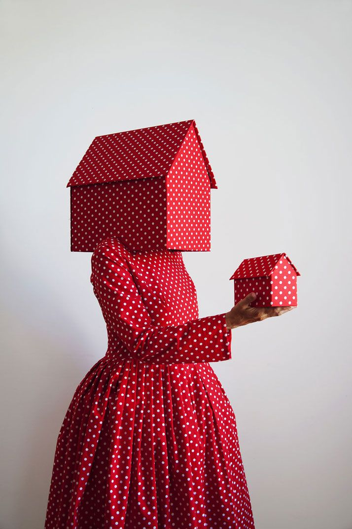 Back to Work: Art Meets Fashion at the 'Workwear' Exhibition in Milan // GUDA  KOSTER ''Rosso con pois bianchi 2012'', photo © Triennale di Milano.