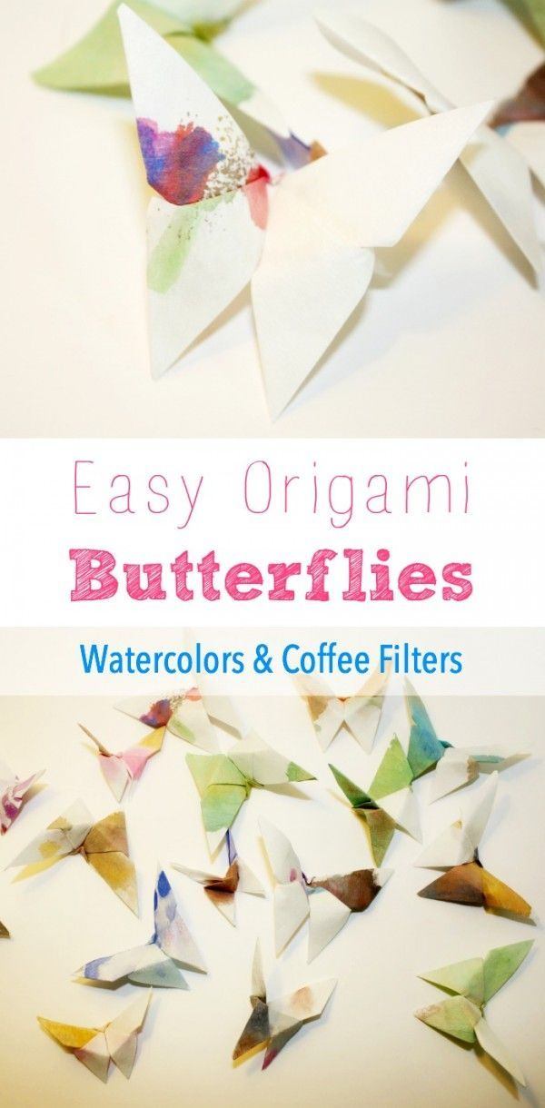 Easy to make these watercolor and coffee filter butterflies are just too…