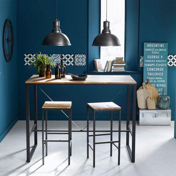 Best 25 style industriel ideas on pinterest d co loft industriel style de - Table bar industriel ...